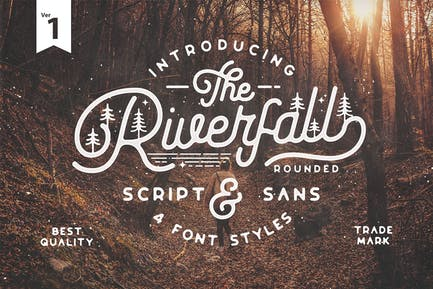 Riverfall Rounded Script and Sans 4 Typeface Ver.1