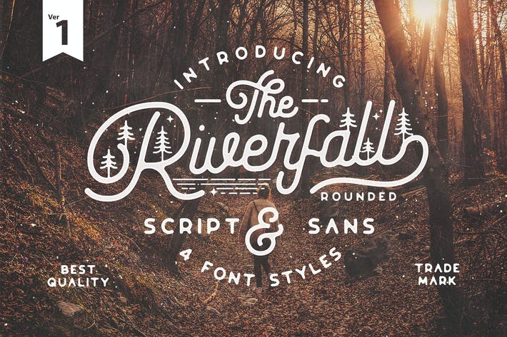 Thumbnail for Riverfall Rounded Script and Sans 4 Typeface Ver.1