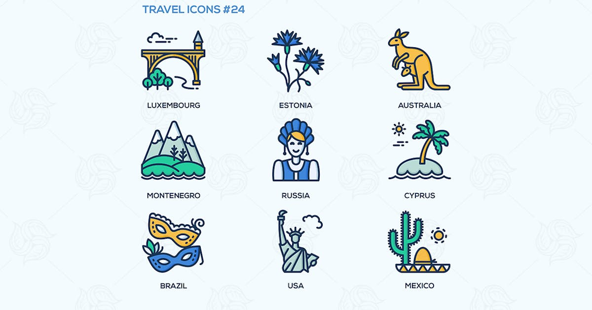 Download Travel - modern vector flat line design icons set by BoykoPictures