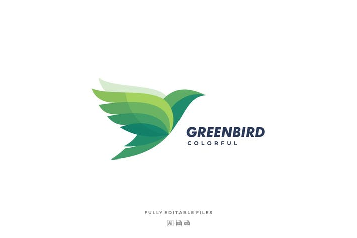 Thumbnail for Fly Bird Colorful Logo