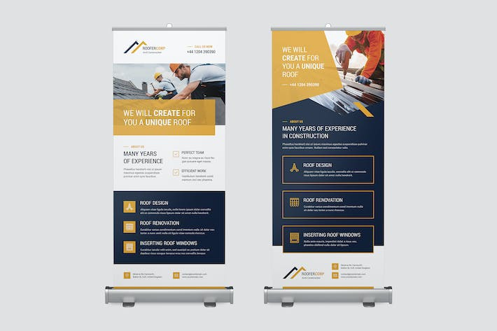 Thumbnail for Roll Up Banner – Roofer
