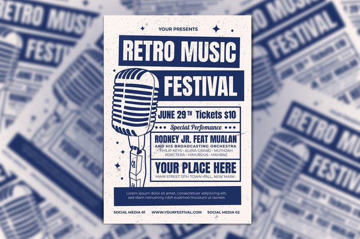 Thumbnail for Retro Music Experience Flyer
