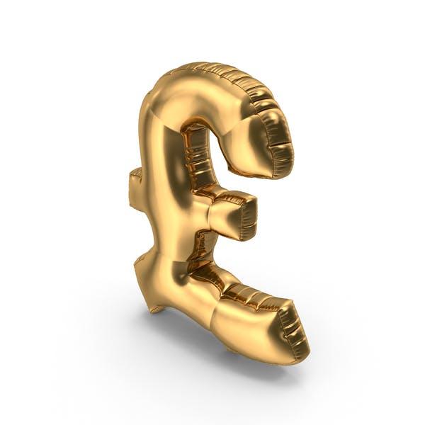 Foil Balloon Pound Gold