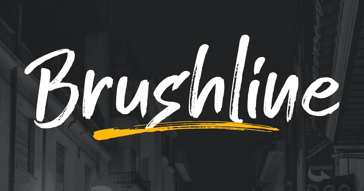 Download Brushline Font by shirongampus
