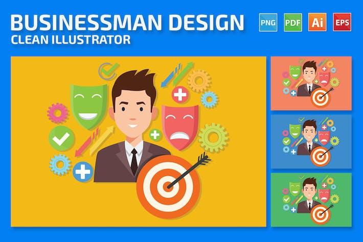 Geschäftsmann-Design