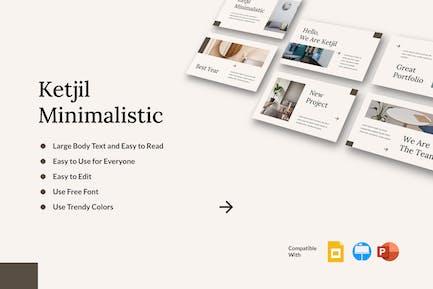 KETJIL - Минималистичный шаблон презентации