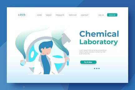 Chemical Laboratory Landing Page Illustration