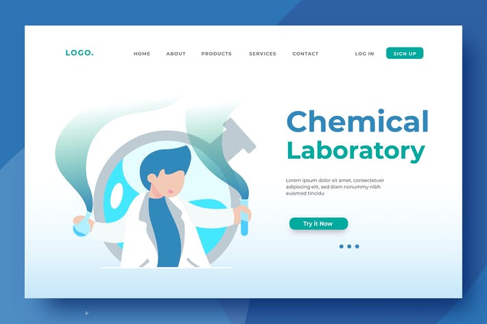 Thumbnail for Chemical Laboratory Landing Page Illustration