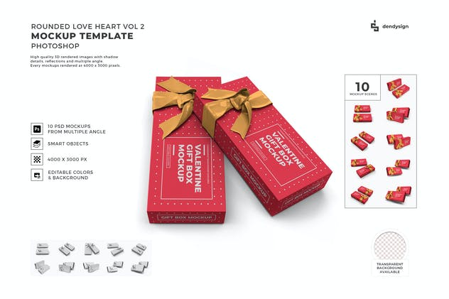 Gift Box Packaging Mockup Template Set Vol 2