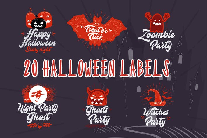 Cover Image For 20 Halloween Labels