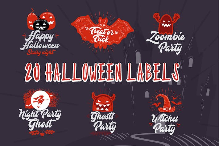 Thumbnail for 20 Halloween Labels
