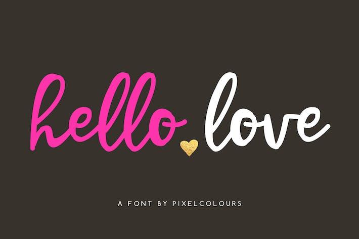 Font Hello Love