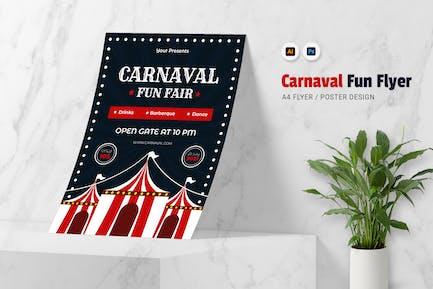 Carnaval Funfair Flyer