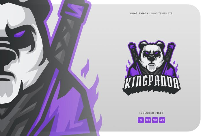 Thumbnail for King Panda Logo Template