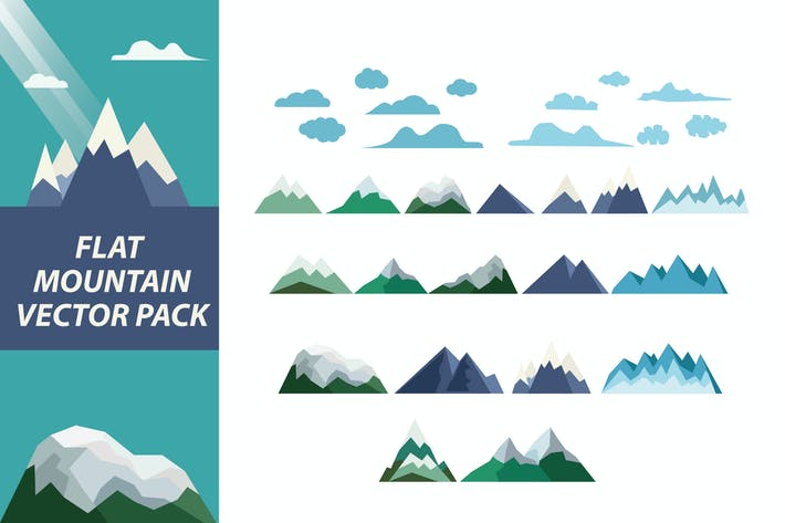 Thumbnail for Flat Mountain Elements Pack