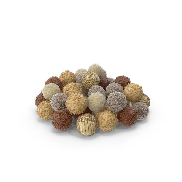 Pile of Mixed Chocolate Balls