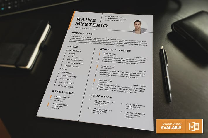 Thumbnail for Minimalist CV Resume Template v.2