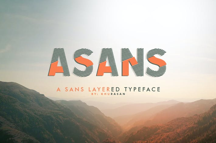 Thumbnail for Asans Layered Font