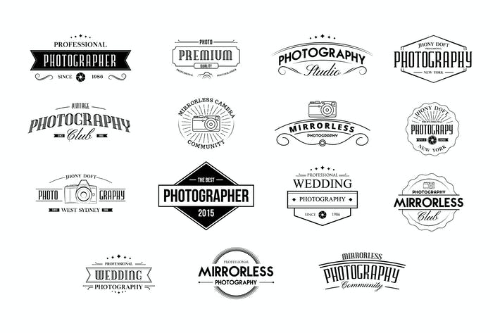 Cover Image For Vintage Badges for Photography