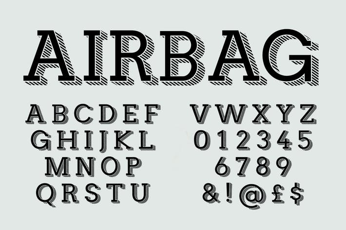 Cover Image For Airbag font