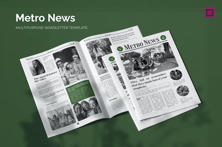 MetroNews - Newsletter Template