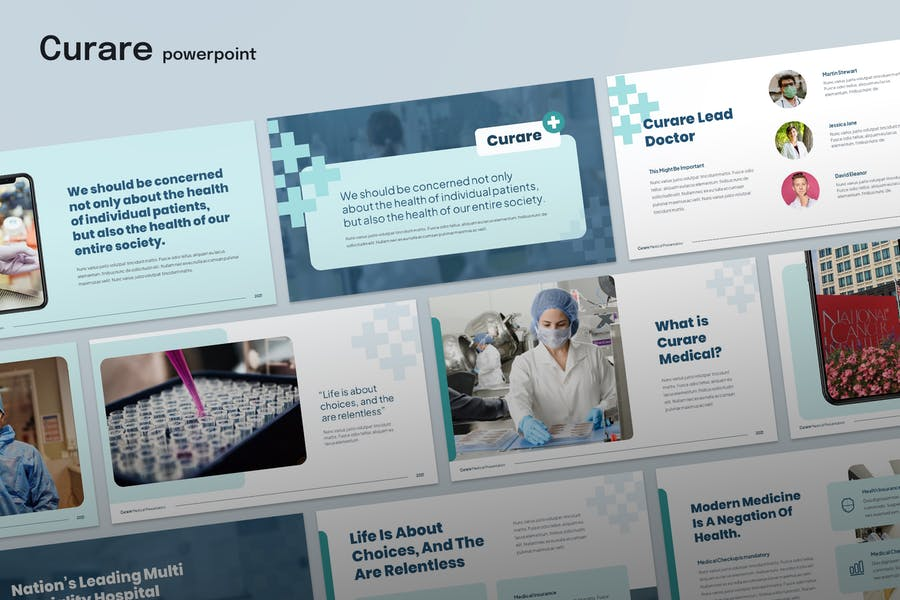 Curare Medical Template Powerpoint