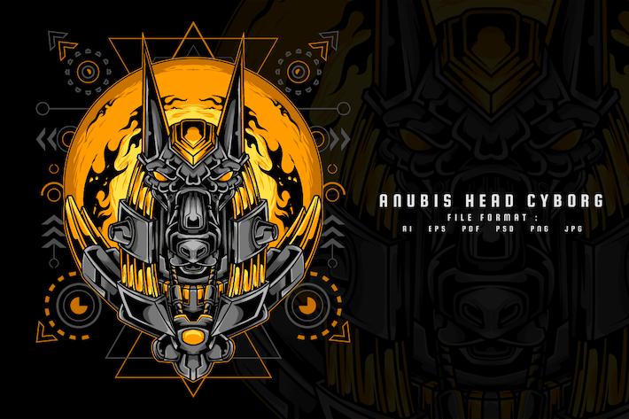 Anubis Head Cyborg