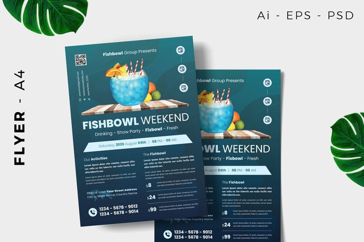 Thumbnail for Fish Bowl Event Flyer Design