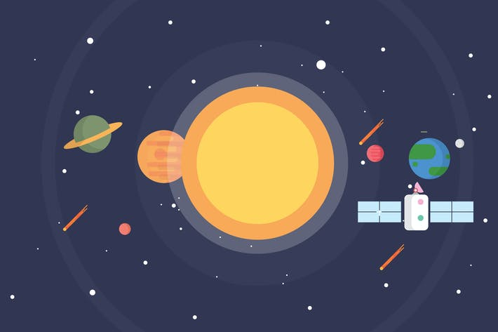 Thumbnail for Space and Solar System - Illustration Background