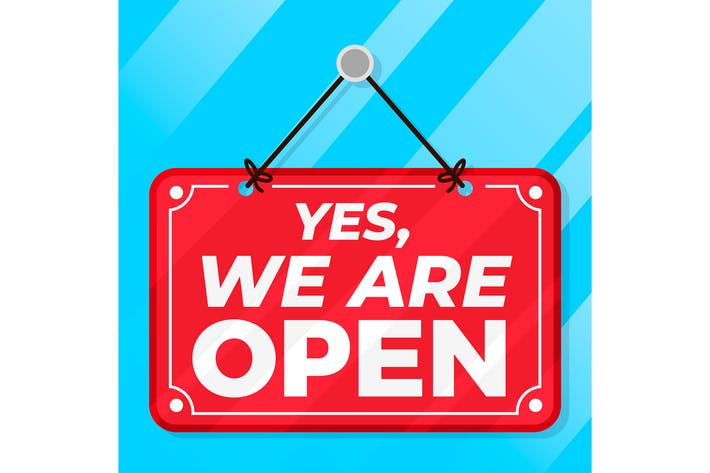 Thumbnail for Yes We Are Open Sign