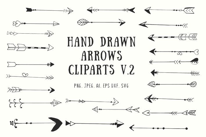 Thumbnail for 70+ Handdrawn Arrows Clipart Ver. 2