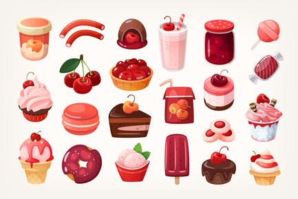 All kinds of cherry desserts.
