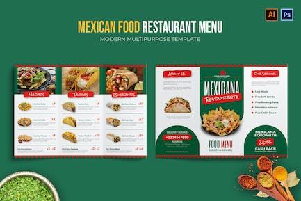 Mexican Food - Restaurant Menu