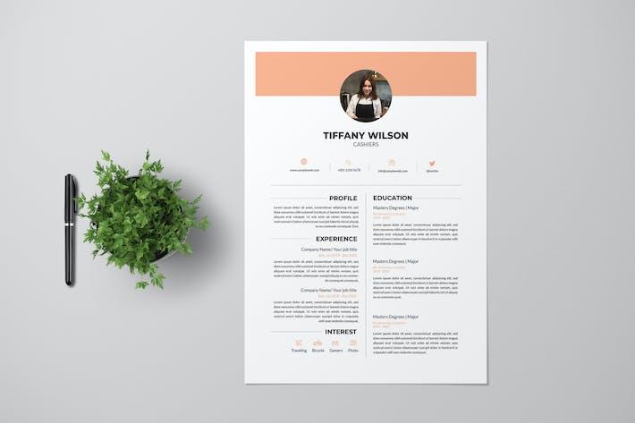 Thumbnail for Cashier Resume Pro
