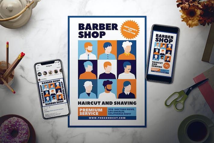 Thumbnail for Barbershop Flyer Set