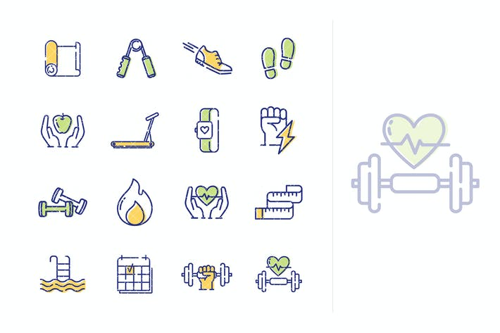 Thumbnail for Fitness Activities Icons - Outline Series