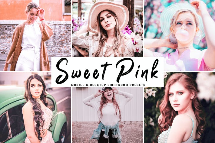 Cover Image For Sweet Pink Mobile & Desktop Lightroom Presets