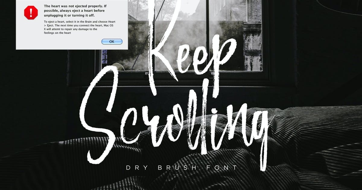 Download Keep Scrolling - Handwritten Font by irwanwismoyo