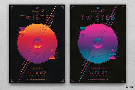 Twisted Session Flyer Template