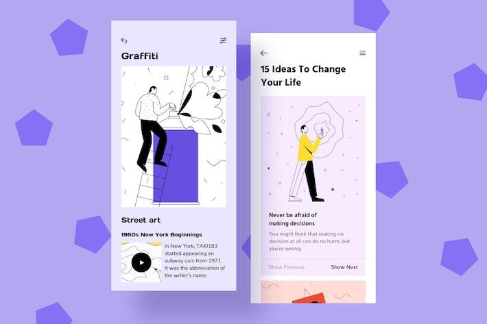 Thumbnail for Dessin d'illustrations d'interface mobile