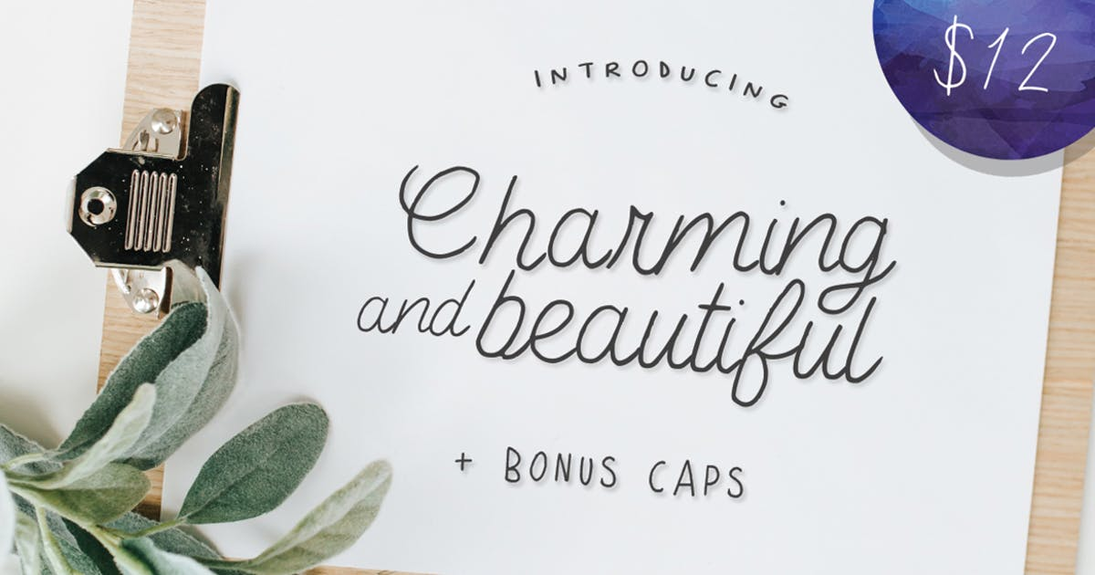 Download Charming and Beautiful Font by maroonbaboon