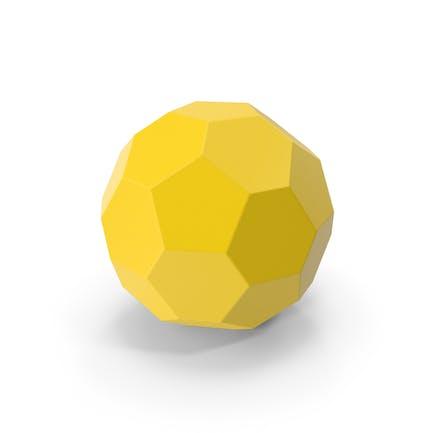 Шестигранный шар желтый