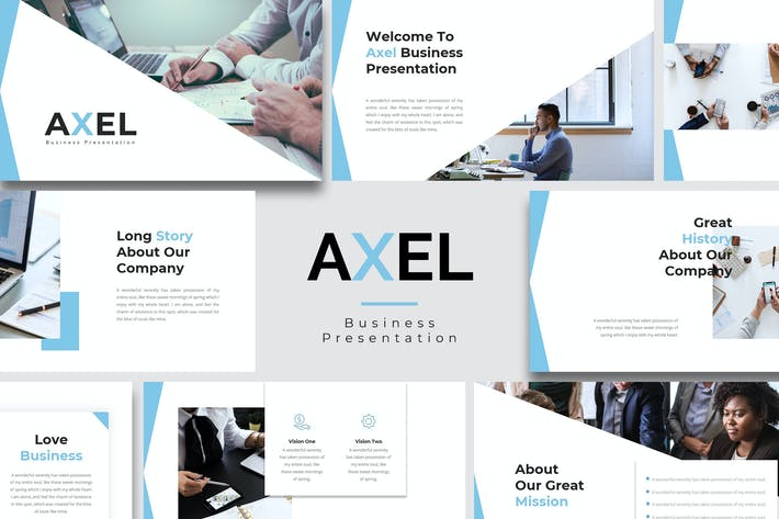 Thumbnail for Аксель — Бизнес Google Слайд Шаблон