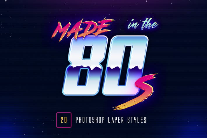 Thumbnail for 80s Retro - Photoshop Layer Styles