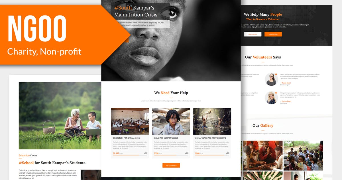 Download NGOO - Charity, Non-profit Muse Template YR by Rometheme