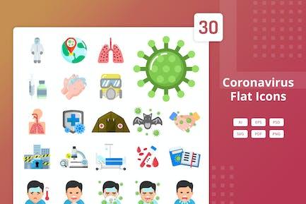 Coronavirus - Flat Icons