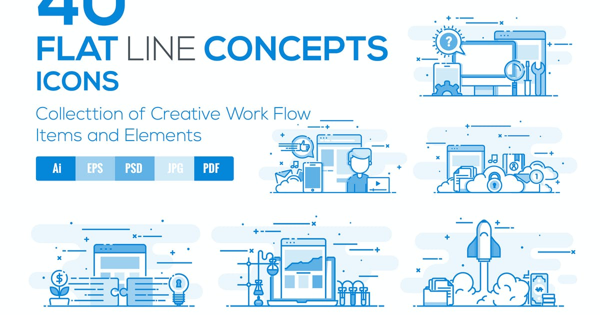 Download Flat Line Designed Concepts by graphics4u