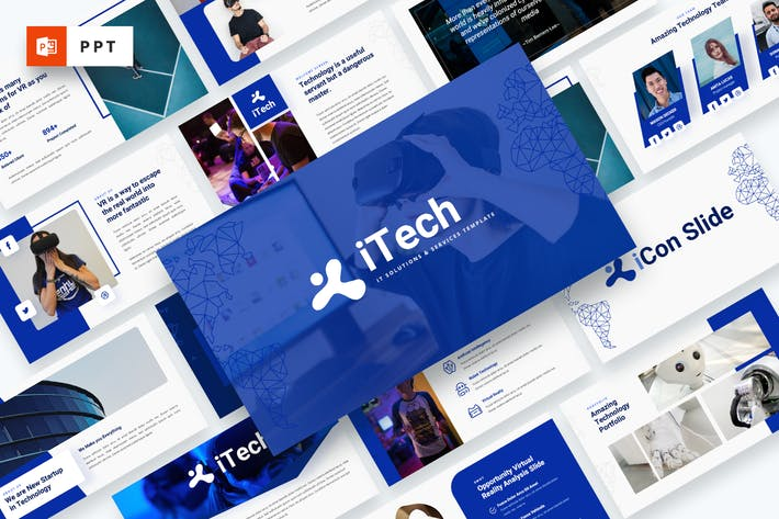 Cover Image For iTech - IT Solutions Services Powerpoint Template