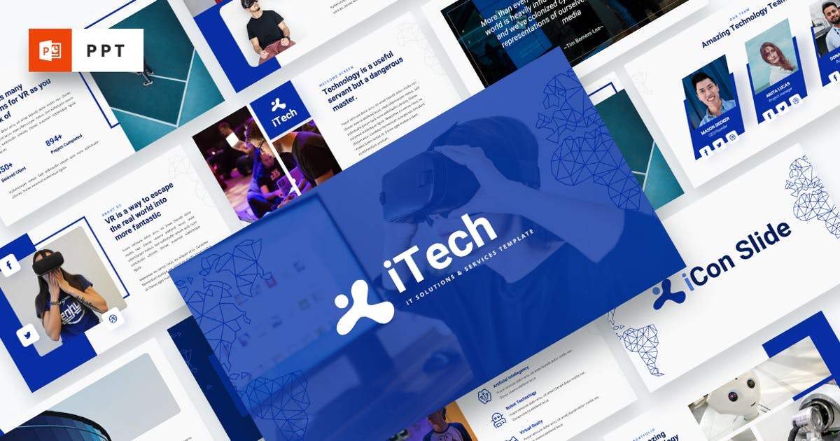 Download iTech - IT Solutions Services Powerpoint Template by MasdikaStudio