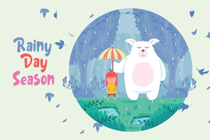 Thumbnail for Rainy Day Season - Vector Illustration